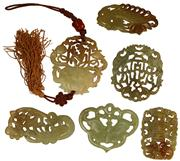 Sale 8004 - Lot 38 - Chinese Carved Pendants