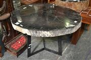 Sale 8115 - Lot 1447 - Fossil Wood Slab Table