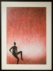 Sale 8205 - Lot 69 - Andre Mentzoe - Seated Nude, Red 71 x 51cm