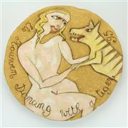 Sale 8413 - Lot 55 - Els Houwen 'Dancing with a Tiger' Platter
