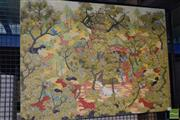 Sale 8509 - Lot 2077 - Artist Unknown Balinese Mythical Jungle Scene , acrylic on canvas on board, 69 x 94cm,