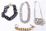 Sale 8550F - Lot 54 - Four pieces of Mimco jewellery including; curb link bracelet and three necklaces.