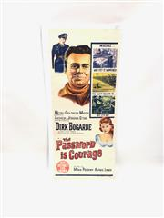 Sale 8732W - Lot 14 - The Password is Courage Vintage Movie Poster ( 35cm x 75cm)