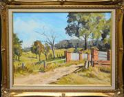 Sale 8707 - Lot 2009 - Paul McDonald Smith - Towards the Range, Kangaroo Ground 40 x 60cm (frame 60 x 75cm)