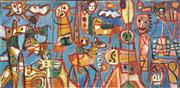 Sale 8722 - Lot 528 - Judi Singleton (1963 - ) - Travelling East (triptych) 79 x 161cm