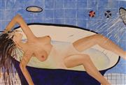 Sale 8825A - Lot 14 - Rebecca Pierce - Nude in Bath - days end and all wrung out 102 x 153cm