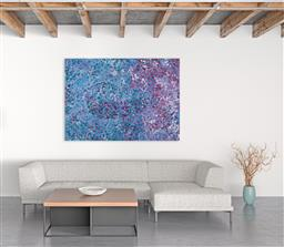 Sale 9171A - Lot 5059 - POLLY NGALE (c1936 - ) Bush Plum acrylic on canvas 145 x 203 cm (stretched and ready to hang) signed verso; certificate of authentic...