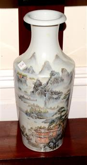 Sale 8107B - Lot 9 - Chinese famille rose vase,mountains and rivers design,marks to base,H41cm