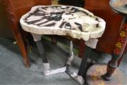 Sale 8115 - Lot 1467 - Fossil Wood Slab table