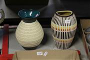Sale 8312 - Lot 1077 - Two West German Pottery Vases