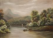 Sale 8616 - Lot 584 - Edith Stanway Halcombe (1844 - 1903) - New Zealand Highland Scene 43.5 x 60cm