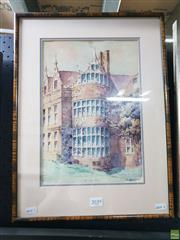 Sale 8645 - Lot 2039 - H Bartleet - Kirby Hall, 1931 47.5 x 35cm (frame size)