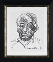 Sale 8908A - Lot 5055 - Desiderius Orban (1884 - 1986) - Self Portrait 30 x 24 cm