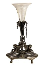 Sale 8040 - Lot 72 - Silver Plated Single Stem Epergne