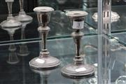Sale 8024 - Lot 3 - Pair of Hallmarked Sterling Silver Candlesticks