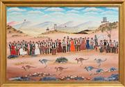 Sale 8254 - Lot 502 - Howard William Steer (1947 - ) - Broken Hill Sports Day 60 x 90cm