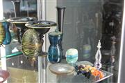 Sale 8276 - Lot 8 - Iridescent Lidded Egg with Other Glass incl. Gozo Glass Bud Vase