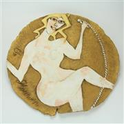 Sale 8413 - Lot 58 - Els Houwen Nude Figure Platter