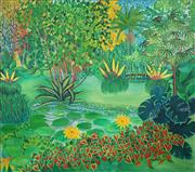 Sale 8538 - Lot 580 - Sister Dorothy - Botanical Gardens, Coconuts 1974 121.5 x 137cm