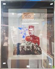 Sale 8609 - Lot 2050 - Chris Kenyon - Akubra, mixed media on paper, 63.5 x 52cm (frame), signed/dated lower right