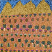 Sale 8708A - Lot 570 - Desma Ngwarri Turner - Bush Medicine Plants 45 x 44.5cm