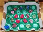 Sale 8740 - Lot 1339 - Box of Split Coloured Minerals and Crystals