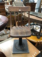 Sale 8854 - Lot 1054 - Industrial Timber Boston Chair On Metal Base