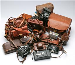Sale 9098 - Lot 71 - A Large Collection Of Vintage Cameras Incl Kodak And Agfa