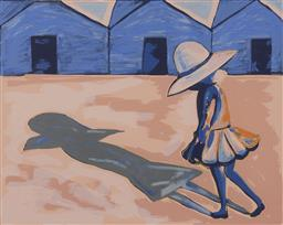 Sale 9161 - Lot 546 - CHARLES BLACKMAN (1928 - 2018) Shadow lithograph, ed. A/P 62.5 x 77 cm (frame: 92 x 107 x 3 cm) signed lower right