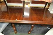 Sale 8093 - Lot 1164 - Mahogany D End  Dining Table