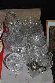 Sale 8288 - Lot 76 - Hoya Crystal Dish with Other Glass Ware & Ceramics incl. a Jug