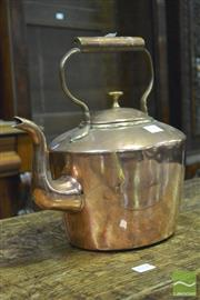 Sale 8359 - Lot 1049 - Large Copper Kettle, of oval form