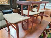Sale 8451 - Lot 1005 - Set of 3 France and Sons Dining Chairs