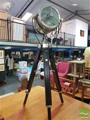 Sale 8495F - Lot 1088 - Lamp on Tripod Base
