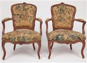Sale 9087H - Lot 83 - A Pair of late 18th- early 19th century French Bergères with original Aubusson tapestry upholstery. In very good condition for age.