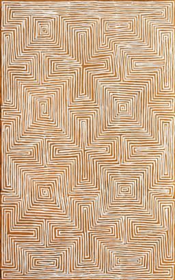 Sale 9148A - Lot 5026 - JAKE TJAPALTJARRI (1970 - ) Tingari acrylic on canvas 153 x 95 cm (stretched and ready to hang) signed verso; certificate of authent...