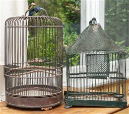 Sale 9120H - Lot 244 - Two bird cages, Height of taller 43cm