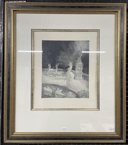 Sale 9135 - Lot 2011 - Norman Lindsay Leda facsimile etching no. 475 (frame: 72 x 62 x 4 cm) facsimile signed; Bloomfield Galleries certificate of authen...