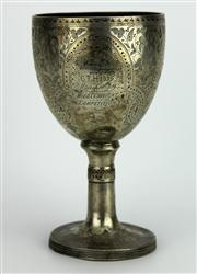 Sale 8130 - Lot 33 - English Hallmarked Sterling Silver George III Boxing Trophy Cup