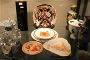 Sale 8330T - Lot 166 - Doulton Burslem Triangular Cabinet Plate with Other Cabinet Plates incl. Royal Crown Derby Imari Plate