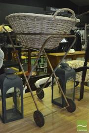 Sale 8337 - Lot 1046 - Washing Basket on Trolley