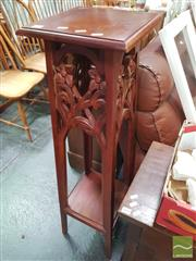 Sale 8455 - Lot 1071 - Mahogany Plant Stand