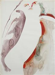 Sale 8466A - Lot 5037 - Anne Hall (1946 - ) (3 works) - Nude Studies 76 x 56cm, each (sheet size)