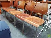 Sale 8493 - Lot 1020 - Set of 5 Metal and Moulded Ply Student Chairs
