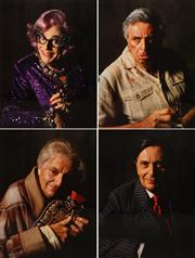 Sale 8642A - Lot 5060 - Lewis Morley (1925 - 2013) (4 works) - Dame Edna/Les/Sandy/Barry 40 x 30cm, each