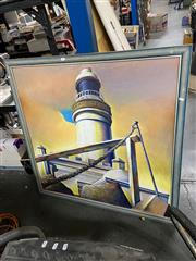 Sale 8865 - Lot 2023 - A Painting of a Lighthouse by Unknown Artist
