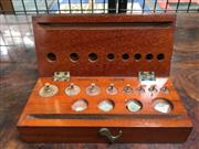Sale 8882 - Lot 1009 - Graduated Weights Set, for scientific scales, in timber case