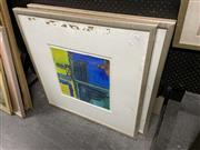 Sale 8898 - Lot 2085 - Artist Unknown (2 works), mixed media, 81 x 81cm (frame size, each), unsigned