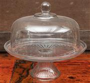 Sale 8942H - Lot 95 - A glass cake stand and cover