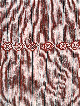 Sale 9148A - Lot 5039 - GLENYS GIBSON NUNGURRAYI (1968 - ) Women's Ceremony acrylic on canvas 201 x 151 cm (stretched and ready to hang) signed verso; certi..